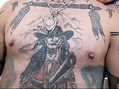 Tattooed sex boobs maoth cum shoot guy fucking his fat wife
