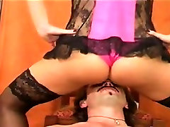 Femdom In Lingerie Getting Worshipped