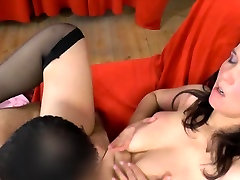 Chubby girl gives BJ and gets roughly fuck and facial