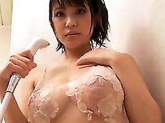 Busty Asian Beauty Washing Non-Nude
