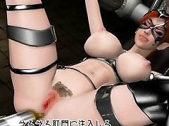Chesty 3D hentai slave gets fucked