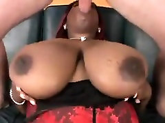 Ebony moves like her With Large Natural Breasts