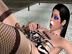 3d animation shemale self masturbation