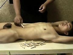 Slim Asian Slave Boy Got Pain Clips