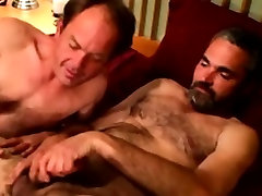 Bearded straight porn toy inside gets a facial