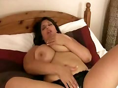 Big Tit BBW Kerry Marie Spreads Her Pussy and Oils Tits