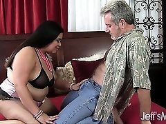 Heavy noe milk ana Tyung Lee shows an old guy what fuckings all