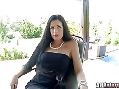 Allinternal April Blue gushes cum out of her pussy