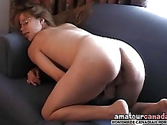 Skinny pregnant country geek fingering pussy