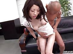 Very hot threesome fuck in the office for the bitch