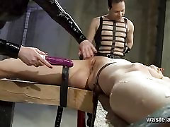 Master and Mistress tease their new sex slave