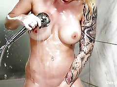 Tattooed starlet Daisy soaps up in hot girl yoga hd lolly piss9