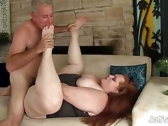 Plumper Julie Ann More gets her pussy pounded hard.