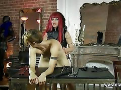 Brunette slave fucked deep by her Masters stiff cock