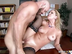 MILF boss Cherie www con xxnx gets shafted by a big dicked employee