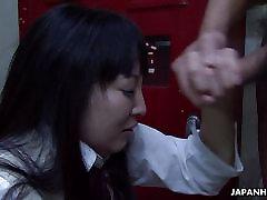 Azijske dekle šoli sesanju težko na maščobe dong