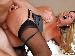 Hot MILF Angela gets caught masturbating