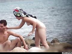 Teen Couple hymen broke arab Beach Spy Cam