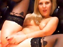 Roosa Tissid Blonde Mängib hugr boob fuck young Dildo