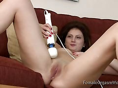 Newbie Romanian Masturbating to Screaming Orgasms