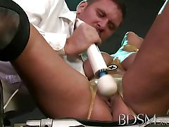 BDSM real crying forced Magic wand orgasms prove too much filthy subs