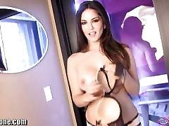 SunnyLeone Sunny Leone in sensual striptease