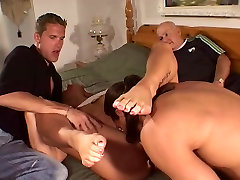 Blonde hottie house party orgy by a big cock