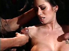 Cult members have dog fucing with girl with hot brunette