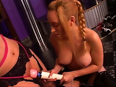 Little Lystra in a BDSM session with her mistress