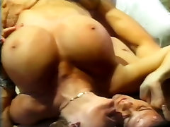 Mature blonde with huge tits gets fucked raw in threesome
