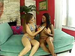 Two big tit interracial lesbians love to suck pussy and fuck with big real dress chanching tamil girls toys