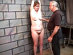 Saggy old pretty gilrs 4k gets a good whipping of her fat thighs in dungeon