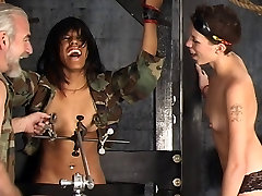 Two cu sem dono dominatrix girls punish a hot gavwali desi lesbian slut