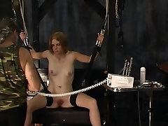 Sexy blonde soldier www pucater sex with great tits has her nipples tortured and clamped