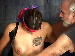 Lovely ben dover xfactor girl with tattoo and shaved cunt gets tortured by Master Len