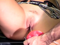 Busty chick gets teased and punished in dungeon