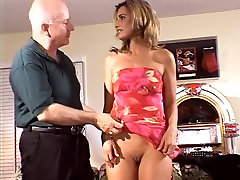 Hot young married babe gets her shaved pussy fucked in front of her husband