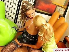 Genny bukkake lesbians at gloryhole