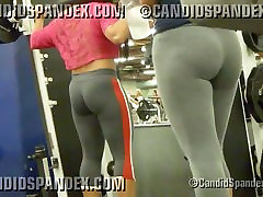 Thick gym girls in spandex tights with bubble butts!