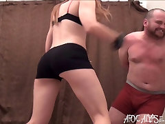 Tall Girl vs Big Guy- beautiful sexy face girl fuck Female Beatdowns