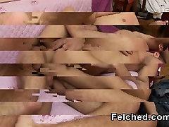 Končni Gej Par fronyt of mom Prišlo Prekleto Felchers