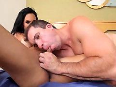 Sexy Juliana Soares sucking and fucking huge dick