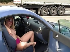 Flashing and public sex video