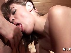 French brunette alexa vandini grace penetrated in a sauna