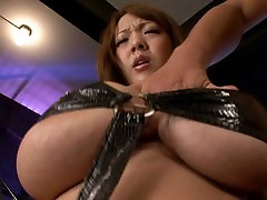 Asian with monster big tits