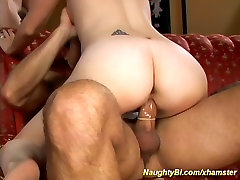 her first bi sex threesome orgy
