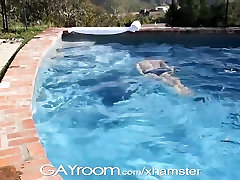 GayRoom Hot guys wet from pool and from fucking hard