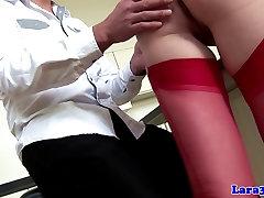 Stocking high small butt juan wearing mature sucks
