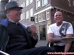 Real dutch ban gle sucking cock for cash