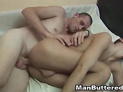 Cumming After Steamy Bareback Sex